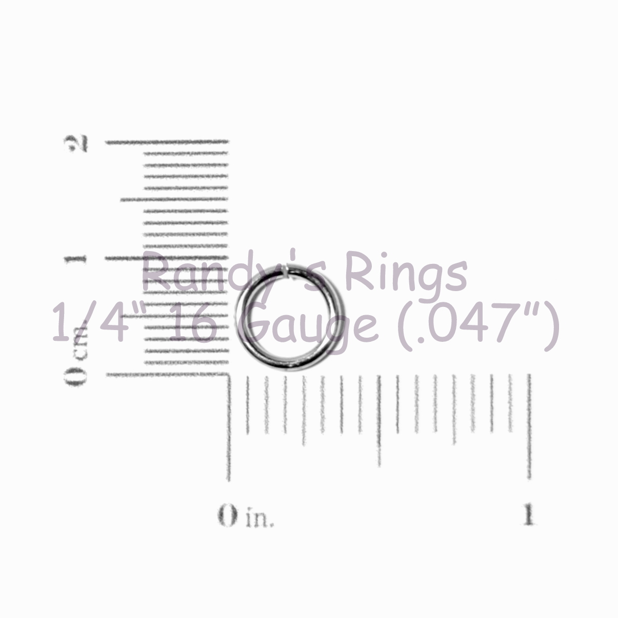 Randy S Rings Gt 1 4 16 Gauge 047 Jump Rings Sample