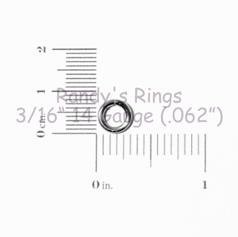 Randy S Rings Gt 3 16 14 Gauge 062 Jump Rings