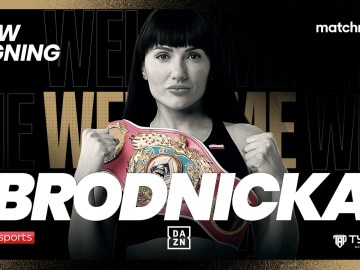 Ewa Brodnicka signs with matchroom boxing