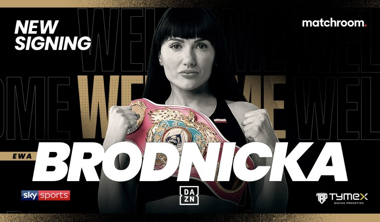Ewa Brodnicka Undefeated WBO Super-Featherweight World Champion signs with Matchroom