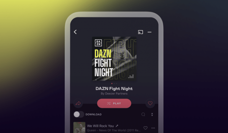 Deezer and DAZN join forces in an integrated championship boxing campaign