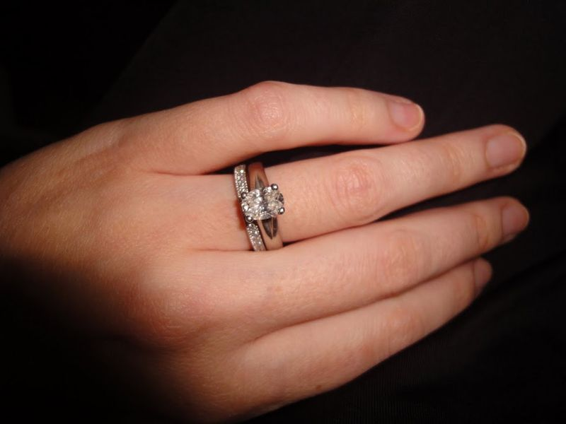 Oval Cut Engagement Ring With Micro Pave Wedding Band