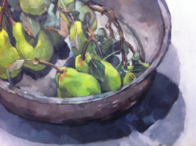 Still Life with Pears (detail), 2012 Oil on Canvas