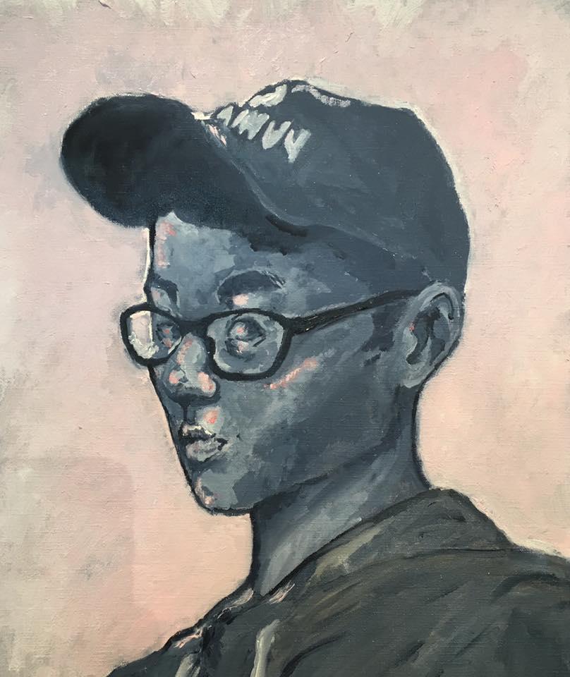 Mono Portrait Folio Prep Painting 5