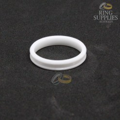 4mm white ceramic ring blanks with 2mm channel groove