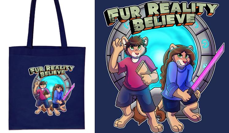 "Fur Reality – ""Believe"" Tote Bag"