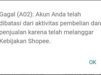 penyebab gagal check out di shopee