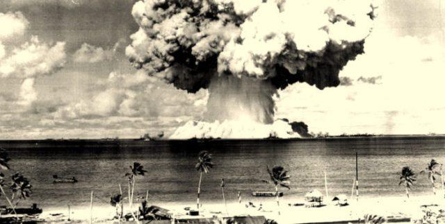 Prelude to nuclear war: Bikini Atoll, Marshall Islands - July 25, 1946