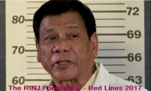RINJ Red Lines 2017 - Rodrigo Duterte