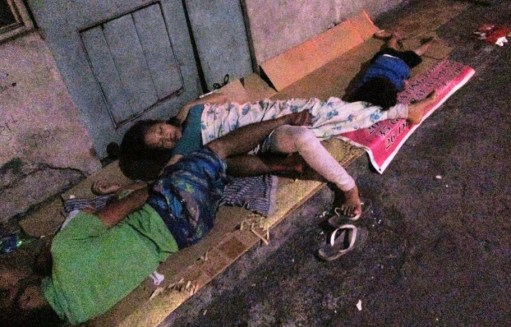 Nine Year Old Sleeps on The Streets in Manila, Philippines