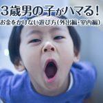 3歳男の子がハマる!お金をかけない遊び方(外出編・室内編)