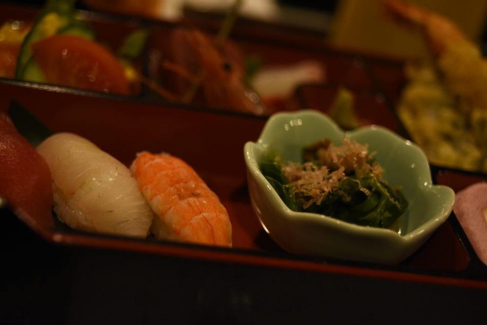 夕食のお寿司