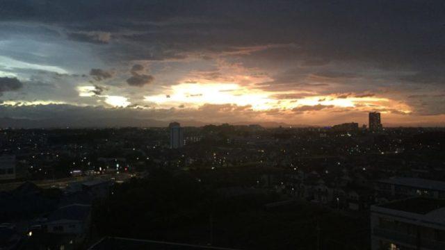 自宅から見た朝日