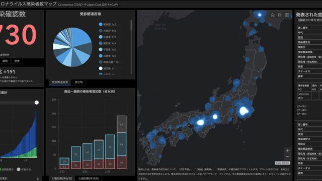 コロナ感染者数マップ