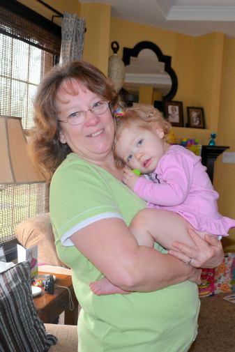 Grandmother loving on Spencer