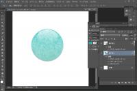 大理石風 丸シェイプの描き方とパターンの使い方