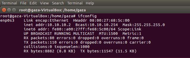 Cek ip address di Ubuntu