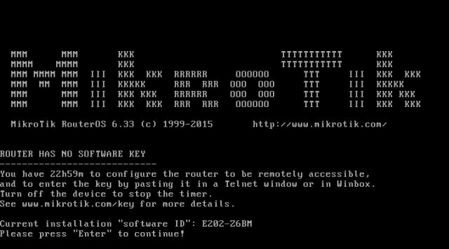 Konfigurasi MikroTik di VirtualBox