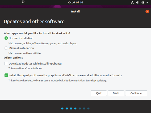 Langkah instalasi Ubuntu di VirtualBox