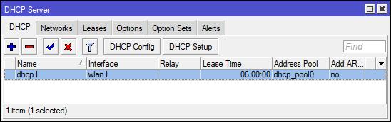 Konfigurasi DHCP Server MikroTik