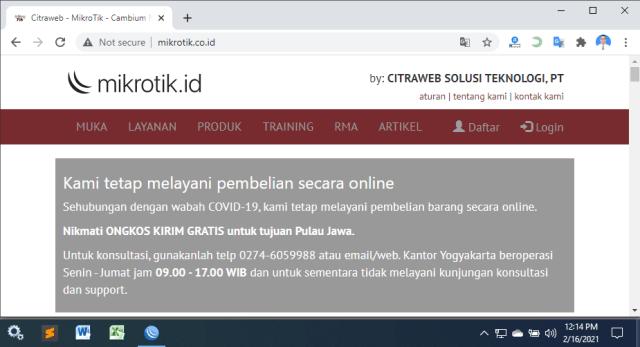 Blokir akses internet dengan MikroTik
