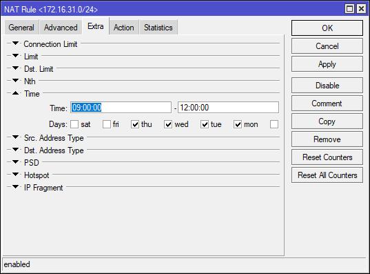 Setting NAT via WinBox