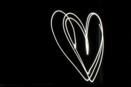 Back in the studio: A five second shutter speed enabled a fellow student's iPhone light painting. f/22 5s ISO 180
