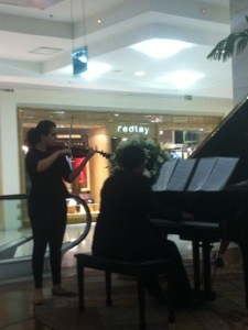 Dueto Violino e piano no shopping leblon