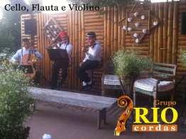 Cello, flauta e violino