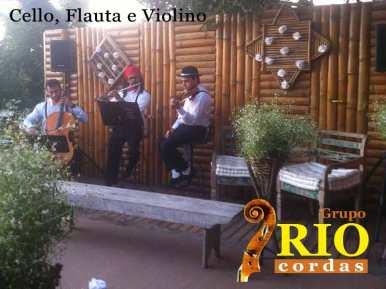 Cello, flauta e violino