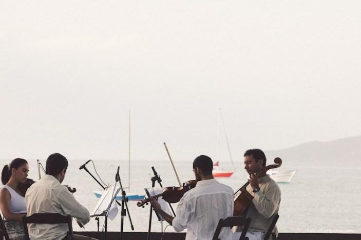 Quarteto de cordas em Búzios