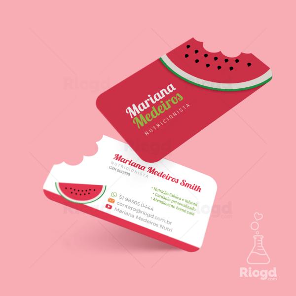 Cartão de Visita Juice Melancia