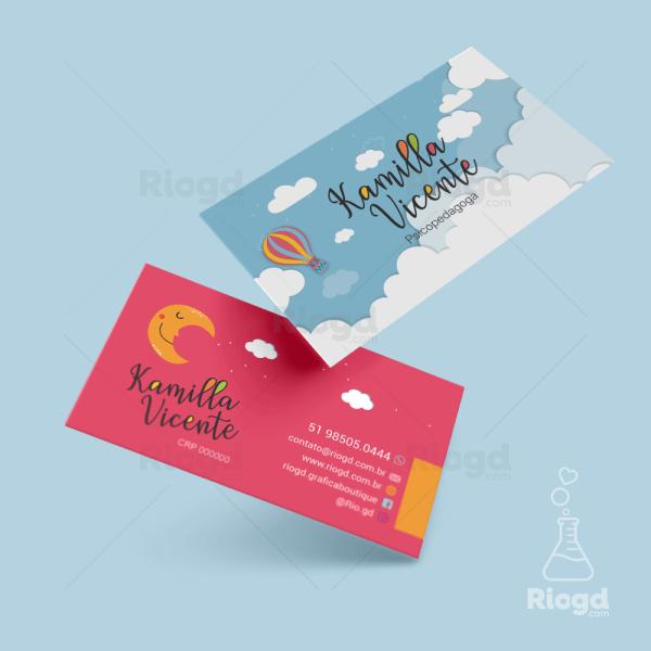 Cartão de Visita Psicologia Happy