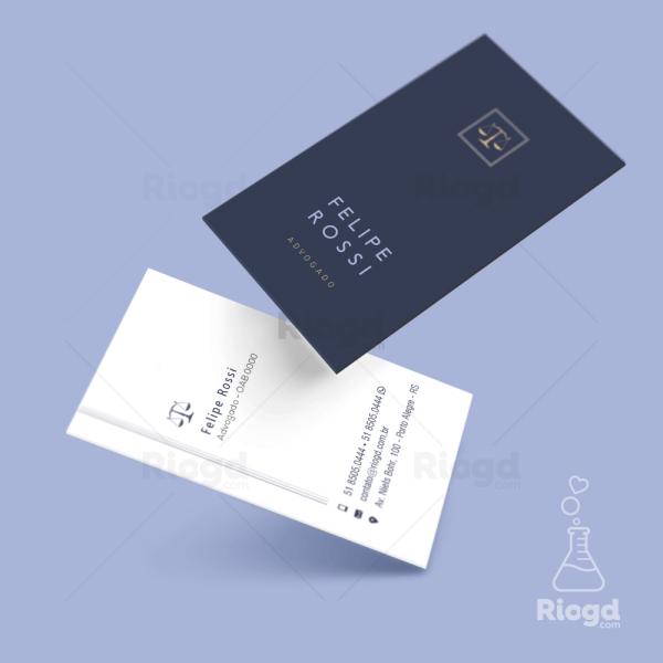 Cartão de Visita Advocacia Contemporâneo Náutico
