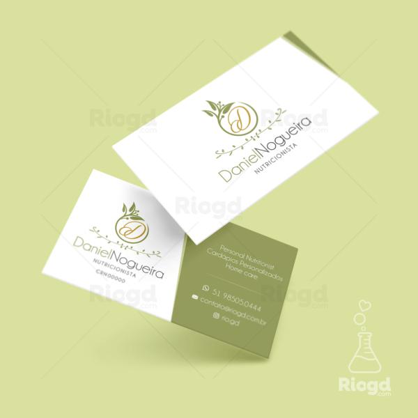 Cartão de Visita Vegan Olive