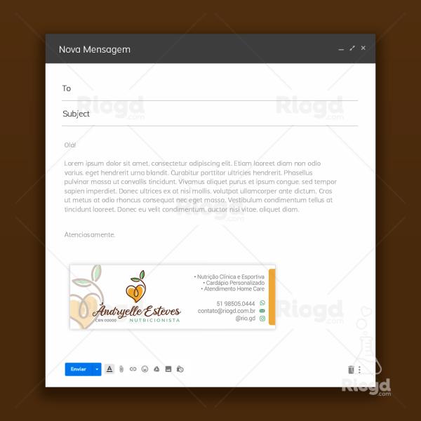 Assinatura de e-mail Nutricionista Health