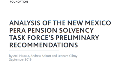 Reason Foundation and Rio Grande Foundation Release Analysis of Task Force Plans for PERA Solvency