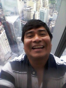 "A selfie taken in July, 2016, at the new ""One World Trade Center"" building in New York City. The tower replaced the World Trade Center destroyed by terrorists in Sept. 11, 2001."