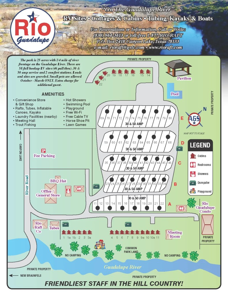 Rio Guadalupe Resort Park Map