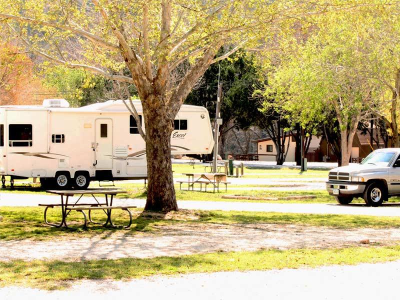 RV Campsites at Rio Guadalupe Resort TX