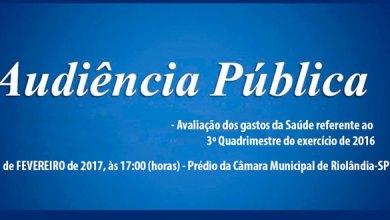 Foto de Convite Audiência Pública – Gastos Saúde