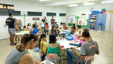 Foto de Reunião pedagógica com Pais e Mestres da EMEI Profª Marinha Ferreira.