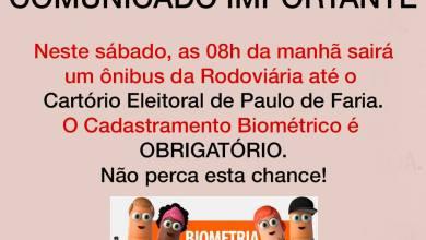 Foto de COMUNICADO IMPORTANTE: CADASTRAMENTO BIOMÉTRICO