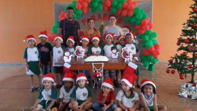 Foto de Comemoração dos aniversariantes do mês de Outubro, Novembro e Dezembro na EMEI Profª Marinha Ferreira do Nascimento