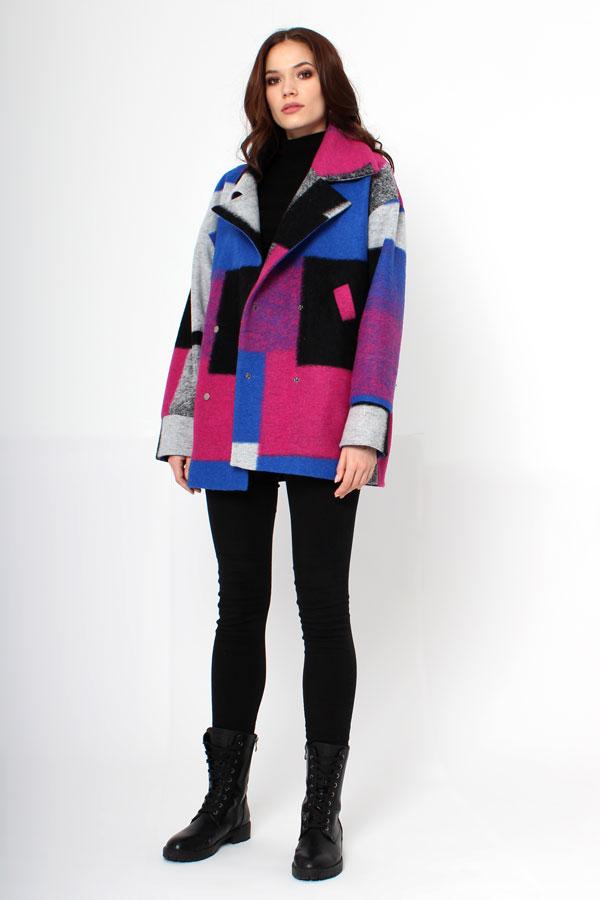 Укороченное пальто абстракция