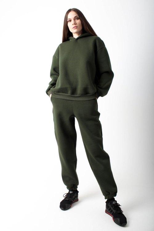 костюм спортивный женский зеленый