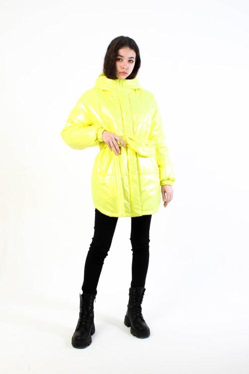 Лёгкая куртка из нейлона лайм
