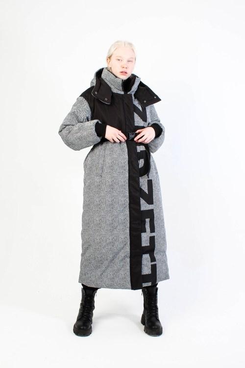 Утепленое пальт TweedZeDZett