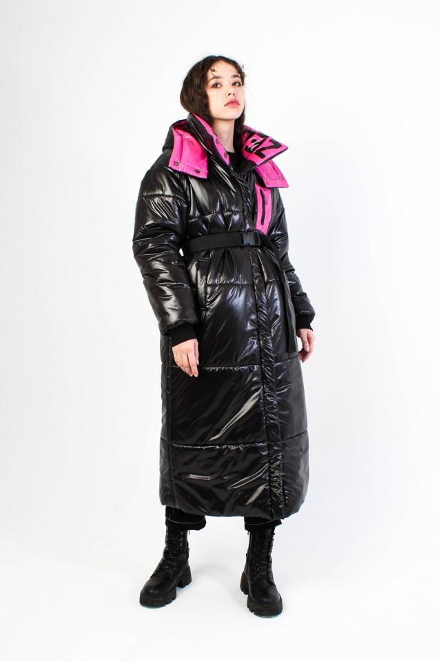 Утепленное пальто Zet лиловое