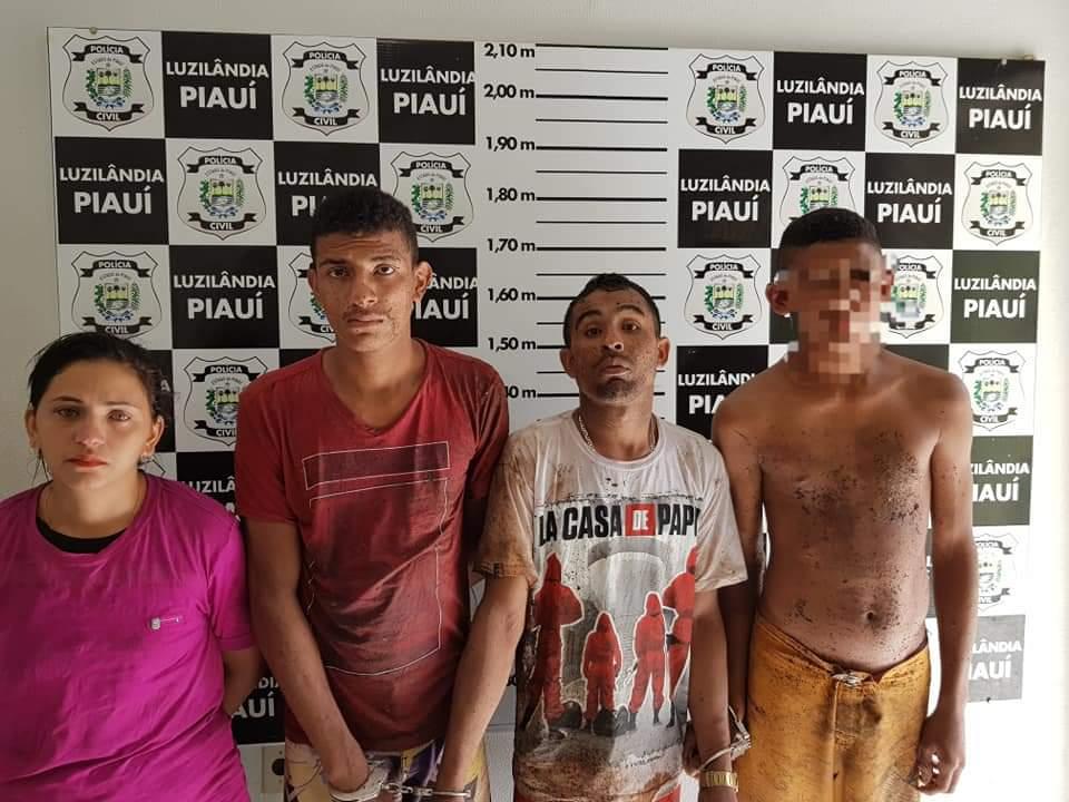 Quatro pessoas são presas acusados de tráfico de drogas em Luzilândia